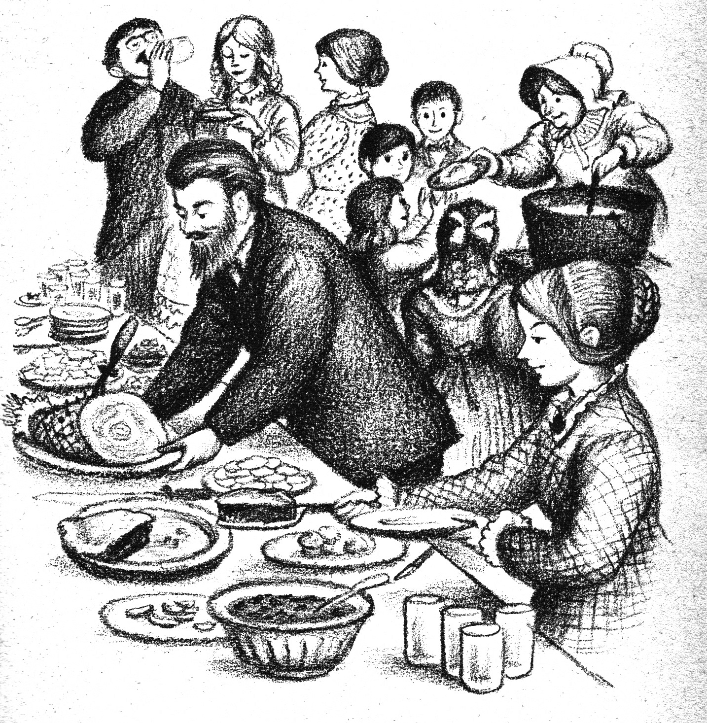 Potluck party modern pioneer mom for Little house in the big woods coloring pages